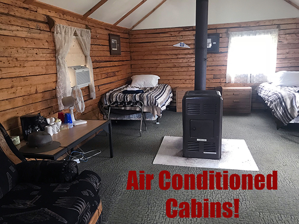 Air Conditioned Cabins!