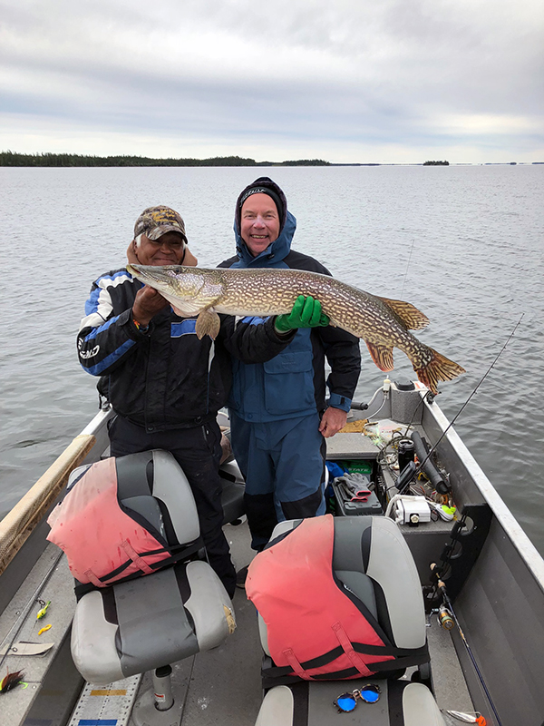 Albert Brown with 45 inch Northern in late August 2018