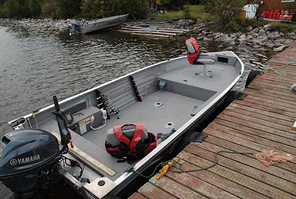 Crestliner 18' Kodiak boats and 25 hp four stroke Yamaha outboards