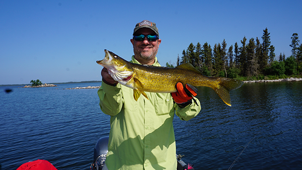 Kent Nastasi with big Walleye from late July