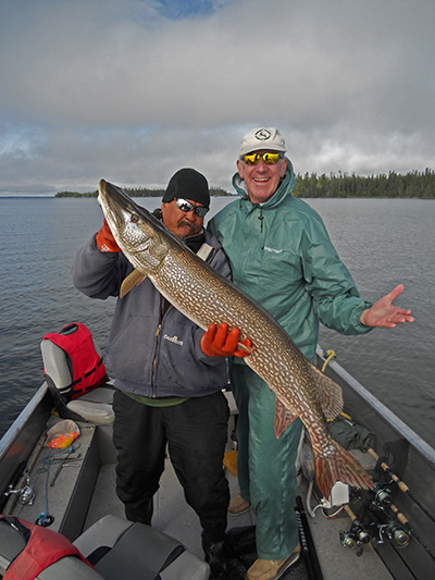 Walter Moede with 47 inch Northern Pike from Silsby in mid August