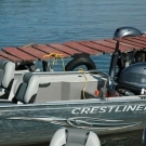 New 18ft. Crestliner boats at Silsby in 2011