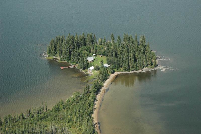 High Hill Lake Outpost Camp is located on a scenic peninsula