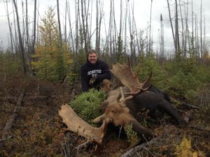 Kraig Ketter with 53 inch bull Moose