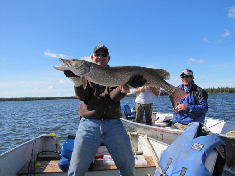 Robert Spies wtih 44 inch Northern from Whitley Lake