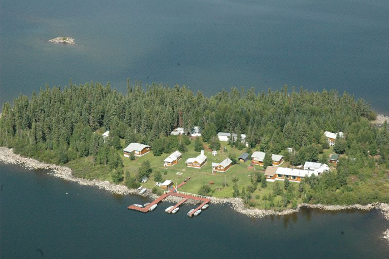 The secluded island that is home to Silsby Lake Lodge