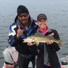 Heather Butler with big Walleye from Silsby Lake