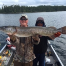 Matt Erwin with trophy Pike from Silsby Lake