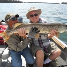 Bill Kruse with 47 inch Northern Pike in July