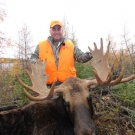 Craig Wendt with Wildlife Pursuit TV with a nice bull from Silsby Lake