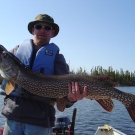 Dennis Fett with 48 inch Northern from High Hill Lake