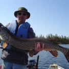 Dennis Fett with 48 inch Northern on High Hill Lake