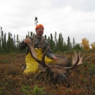 Doug Hushka with bull Moose from Silsby Lake in 2013 - shot at 18 yds!!