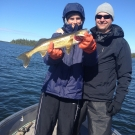 Harrison Hunn with Silsby Lake Walleye