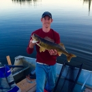 Vincent Kurth with Master Angler Walleye