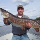 Scott Bristlin with 46 inch trophy from High Hill Lake