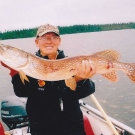 Frank Milos with one of his three Master Angler Pike from Silsby