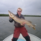 Laddie Lucke with his 49 inch trophy from High Hill Lake
