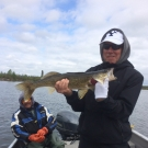 Les Saumweber with Master Angler Walleye from Silsby Lake