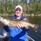 Ross Johnson with big Silsby Lake Walleye