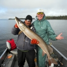 """Walter Moede with 47"""" Northern Pike 2016"""