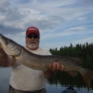 Kevin Brolsma with trophy Pike from Cuddle