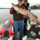 Dennis Zahrbock with massive 46 inch Northern from Silsby in August